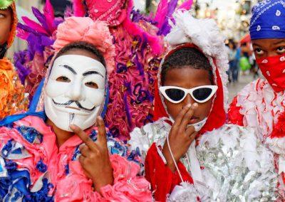 karnawał na Dominikanie, barwne stroje