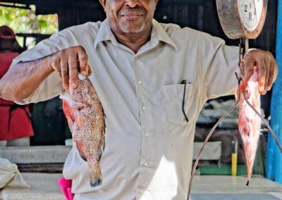 Sprzedawca ryb na Dominikanie