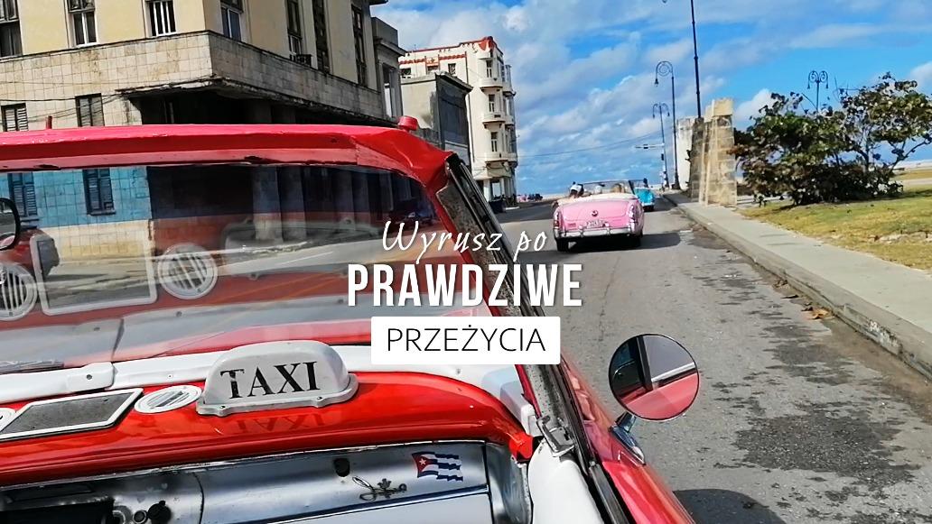 Jedziemy zabytkowymi kabrioletami na Malecon w Hawanie na Kubie