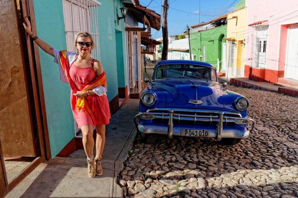 Agnieszka Olton na Kubie w Trynidadzie w czasie wyprawy Kuba Libre Salsa Trip