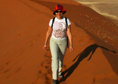 Beata Radecka na pustyni w Namibii