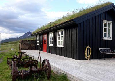 Gdzie mieszkać na Islandii - domek z trawą na dachu