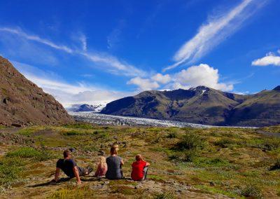 Cudowny widok na lodowiec, objazd Islandii wynajętym samochodem, Iceland
