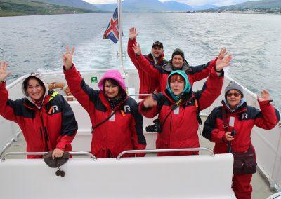 Oglądanie wielorybów, rejs z Akureyri, Islandia